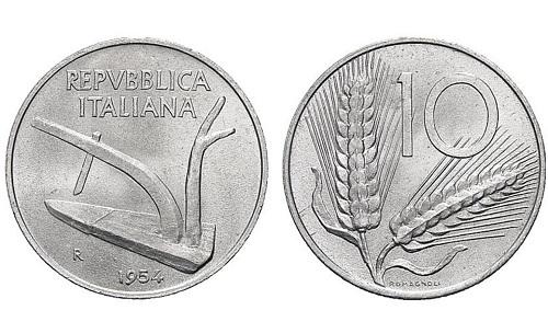 moneta spiga 10 lire
